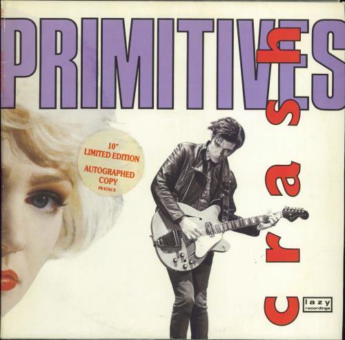 """Image of The Primitives Crash - Autographed 1988 UK 10"""" vinyl PB41761X"""