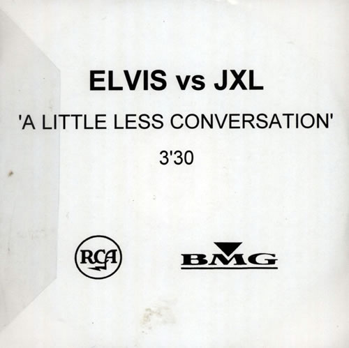 Elvis Presley A Little Less Conversation 2002 UK CDR acetate CDR ACETATE