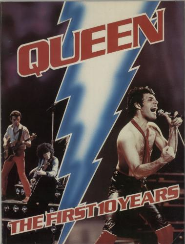 Queen The First 10 Years 1981 UK book