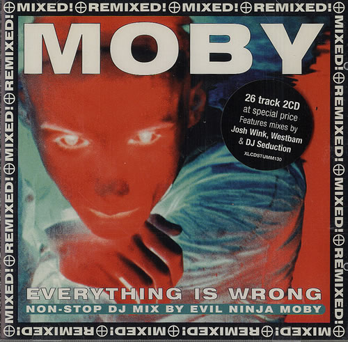 Moby Everythging Is Wrong DJ Mix Album 1996 UK 2CD album set XLCDSTUMM130