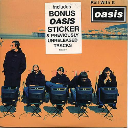 Oasis Roll With It  Sticker 1995 Australian CD single 6623255
