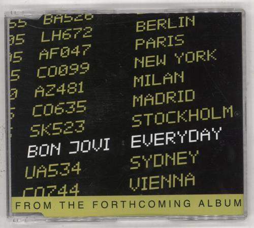 Bon Jovi Everyday 2002 Mexican CD single CDP010872