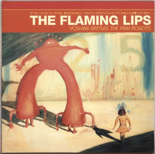 The Flaming Lips Yoshimi Battles The Pink Robots - Red Vinyl 2003 German vinyl LP 9362-48141-1