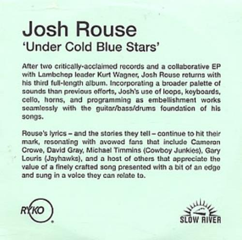 Josh Rouse Under Cold Blue Stars 2002 UK CDR acetate CDR ACETATE