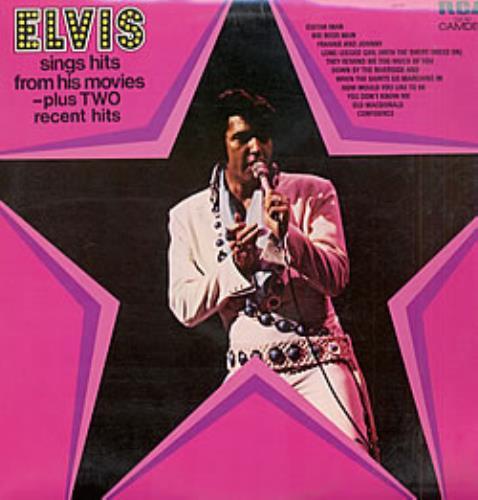Elvis Presley Elvis Sings Hits From His Movies 1972 UK vinyl LP CDS1110
