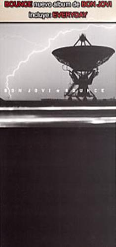 Bon Jovi Bounce Nuevo Album De Bon Jovi Incuye Everyday 2002 Mexican display PROMO DISPLAY