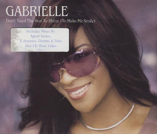 Gabrielle Don\'t Need The Sun To Shine (To Make Me Smile) 2001 UK CD single GOBCD47