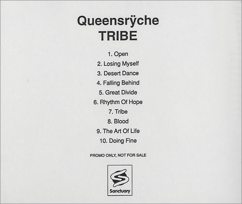 Queensryche Tribe 2003 USA CDR acetate CDR ACETATE