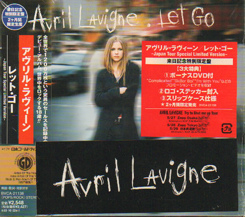 Avril Lavigne Let Go  Japan Tour Edition 2003 Japanese 2disc CDDVD set BVCA21138