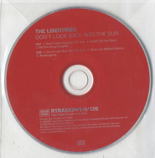 The Libertines Don\'t Look Back Into The Sun 2003 UK CD single RTRADEPR119/120