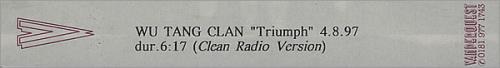 WuTang Clan Triumph  Clean Radio Version 1997 UK video PROMO VIDEO