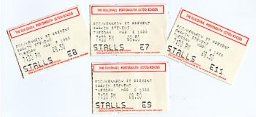 Shakin Stevens Set Of 1988 Concert Tickets 1988 UK concert ticket TICKETS