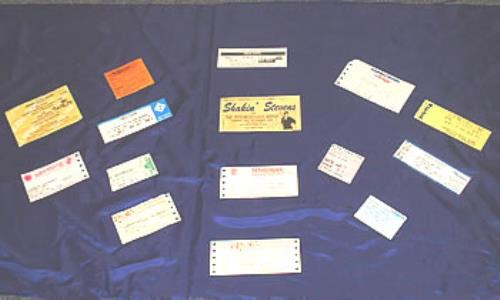 Shakin Stevens Set Of 1992 Concert Tickets 1992 UK concert ticket TICKETS