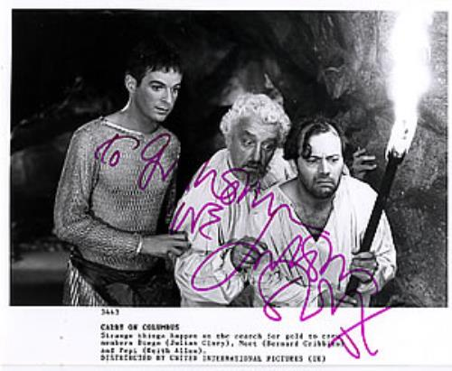 Carry On Carry On Columbus  Autographed UK photograph 3443