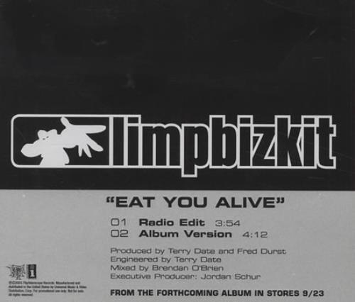 Limp Bizkit Eat You Alive 2003 USA CD-R acetate CD-R ACETATE
