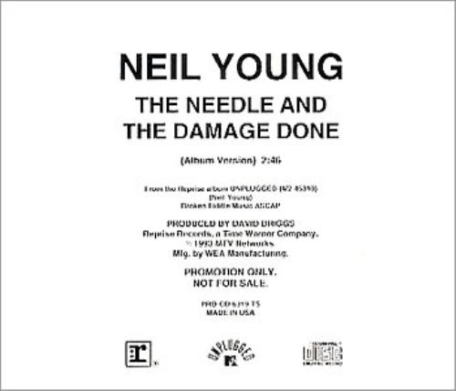 The Needle And The Damage Done - Young, Neil
