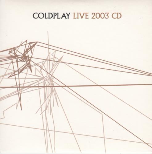 Coldplay Live 2003 CD 2003 UK CD album CPLIVE2003