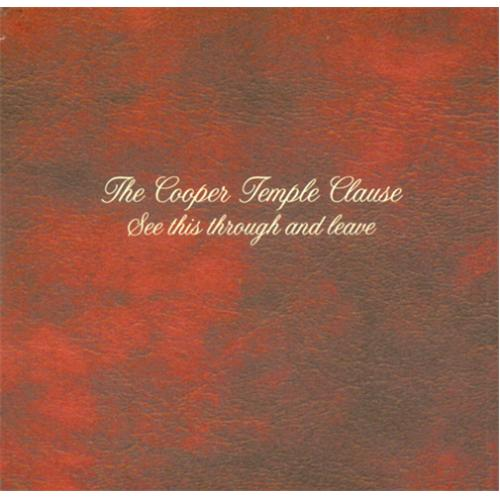 The Cooper Temple Clause See This Through And Leave 2001 UK CDR acetate CDR ACETATE