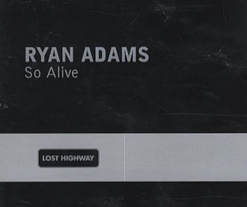 Ryan Adams So Alive 2003 UK CD single RYANCDP5
