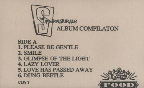 The Supernaturals Album Compilation UK cassette album PROMO CASSETTE
