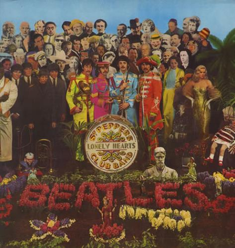 The Beatles Sgt. Peppers  Blue Odeon  Pathe French vinyl LP PCS7027