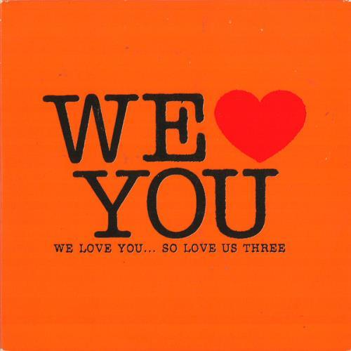VariousIndie We Love You... So Love Us Three 2004 UK CD album AMOURCD8X