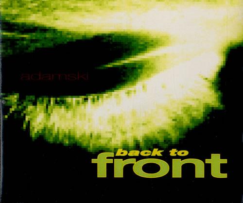Image of Adamski Back To Front 1992 UK CD single MCSTD1644