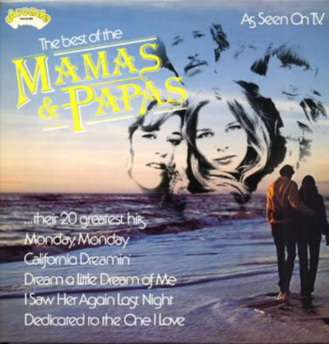 The Mama\'s And The Papa\'s The Best Of Mamas & Papas 1977 UK vinyl LP ADEP30