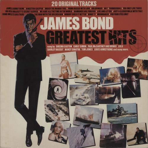 James Bond James Bond Greatest Hits 1982 UK vinyl LP EMTV007