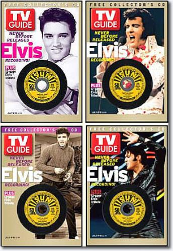 Elvis Presley TV Guide  All 4 Covers  3 CD 2004 USA magazine MAGAZINES