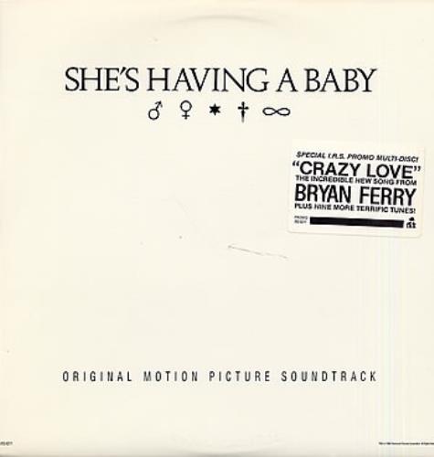 Original Soundtrack Shes Having A Baby 1988 USA vinyl LP IRS6211