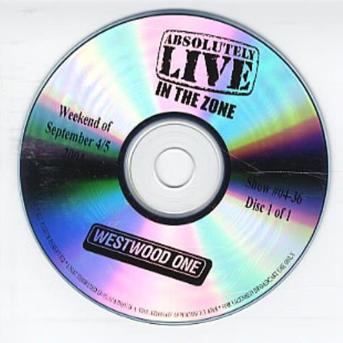 Yellowcard Absolutely Live In The Zone 2004 USA CD album 0436