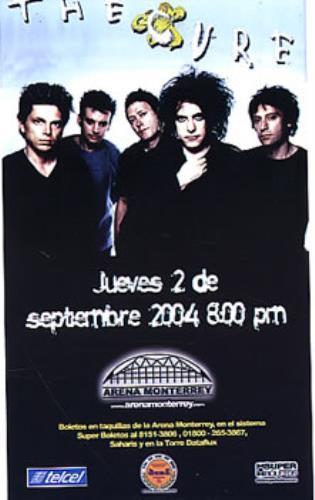 The Cure The Cure 2004 Mexican handbill HANDBILL