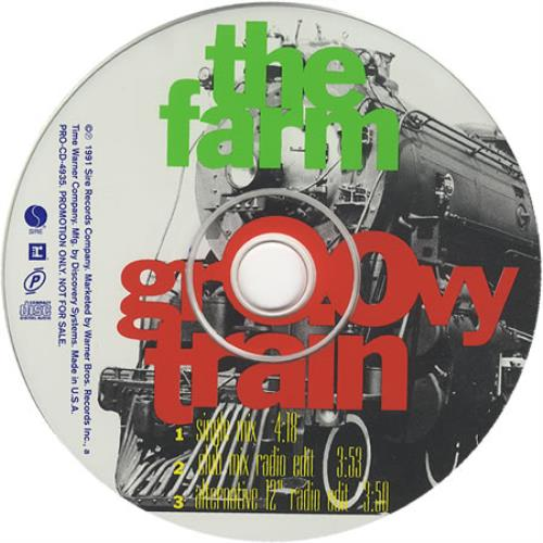 The Farm Groovy Train 1991 USA CD single PRO-CD-4935