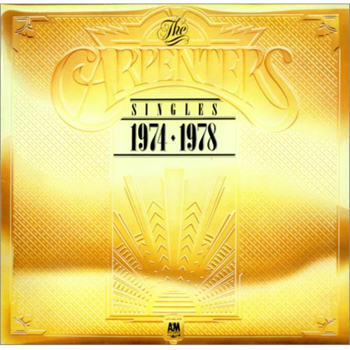 Image of Carpenters The Singles 1974-1978 - Metallic Gold Sleeve 1978 UK vinyl LP AMLT19748