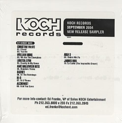 Various Artists New Release Sampler 2004 USA CD album KOCSEPT