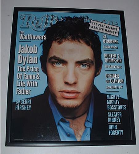 Image of Jakob Dylan Rolling Stone - Framed Cover Print 1997 UK memorabilia FRAMED PRINT