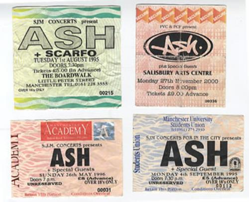 Ash Concert Tickets UK concert ticket CONCERT TICKETS