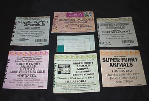 Super Furry Animals Concert Tickets UK concert ticket CONCERT TICKETS