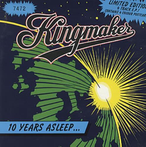"Image of Kingmaker Ten Years Asleep 1993 UK 7"" vinyl SCORCHP8"