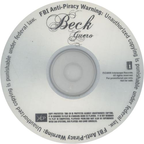 Image of Beck Guero 2005 USA CD-R acetate CD-R