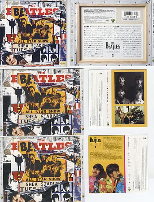 The Beatles Anthology 2 1996 USA memorabilia CDCASSETTE SLEEVES