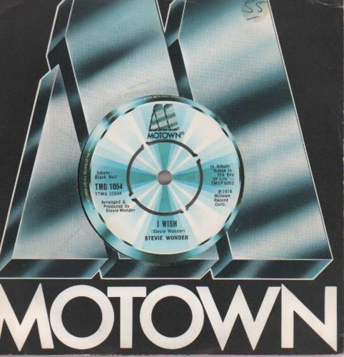 """Stevie Wonder I Wish 1976 UK 7"""" vinyl TMG1054"""