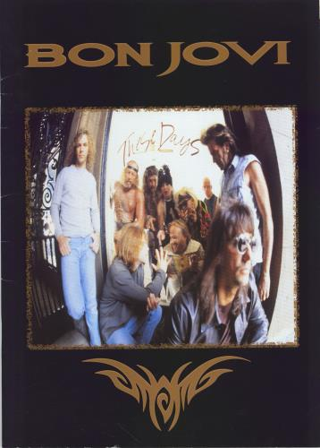 Bon Jovi These Days  World Tour  Ticket Stub 1995 UK tour programme TOUR PROGRAMME