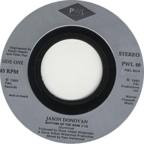 Donovan, Jason - Rhythm Of The Rain - Jukebox Issue