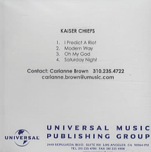 Kaiser Chiefs Kaiser Chiefs 2005 USA CDR acetate CDR ACETATE