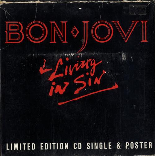 "Bon Jovi - Living In Sin - 7"" Size Pack"