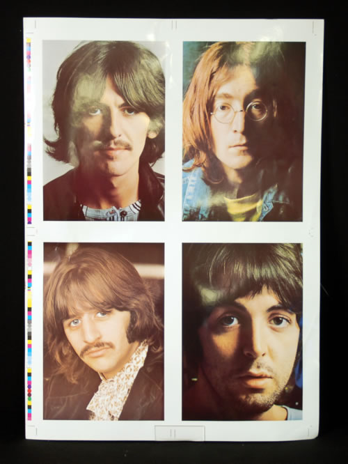 The Beatles The White Album  Portraits Proof Artwork UK artwork ARTWORK