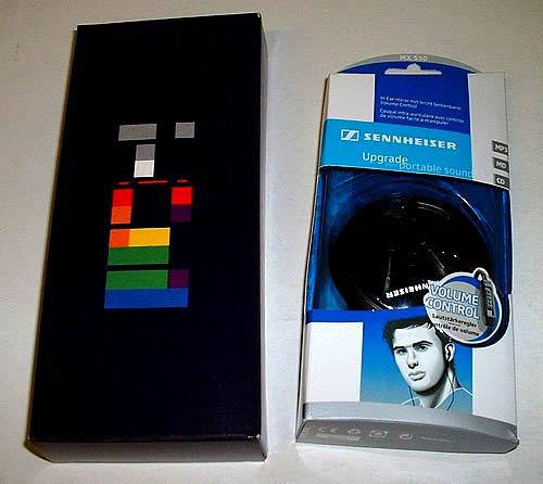 Coldplay X&Y Sennheiser Inear Headphones 2005 UK memorabilia HEADPHONES
