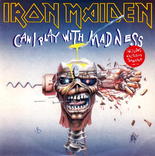 Iron Maiden - Can I Play With Madness - Black Label + Transfer